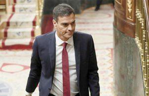 El presidente Pedro Sánchez en el Congreso de los Diputados