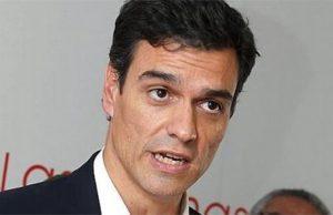 Pedro Sánchez en un mitin del PSOE