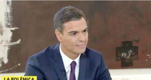 El socialista Pedro Sánchez en La Sexta entrevistado como Presidente del Gobierno