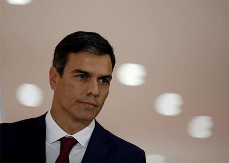 El presidente del Gobierno Pedro Sánchez en un acto político