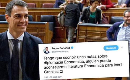 Pedro Sánchez en el Congreso de los Diputados hablando de su tesis doctoral