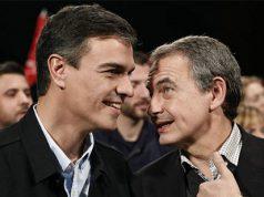 Pedro Sánchez junto a Zapatero en un acto del PSOE