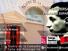 Acto falangista en el Teatro de la Comedia