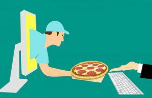 app para restaurantes. La pizza del ordenador a casa