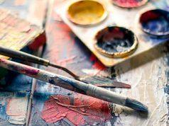 Bellas artes. Pinceles y Pinturas para las artes