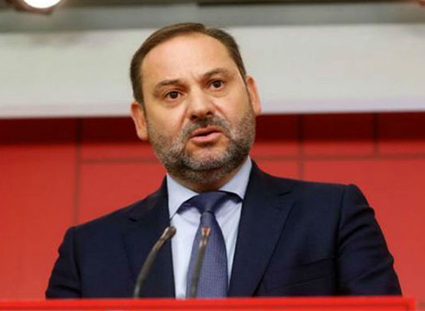 José Luis Ábalos en la sede del PSOE