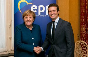 Pablo Casado y Ángela Merkel