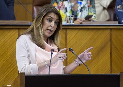 Susana Diaz en el Parlamento de Andalucía