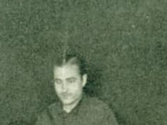 El falangista y Jefe del SEU, Alejandro Salazar, en un acto de Falange Española