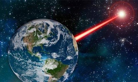 baliza laser para localizar extraterrestres