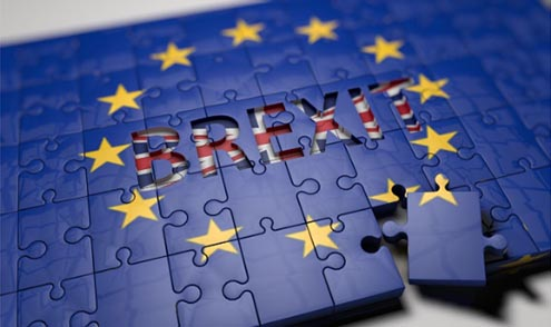Bandera europea y el Brexit
