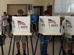 Elecciones en Estados Unidos. Personas votando