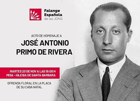 Falange Española homenajea a Jose Antonio Primo de Rivera