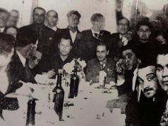 José Antonio Primo de Rivera de Falange Española en un acto político de la Falange Gallega