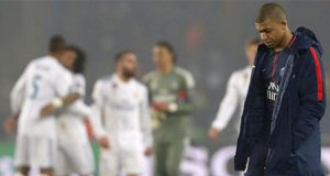 Mbappé jugando contra el Real Madrid