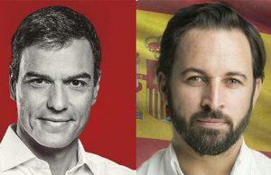 Pedro Sánchez y Santiago Abascal