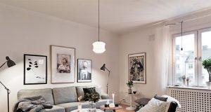 Salón con la iluminación LED para ahorrar energía