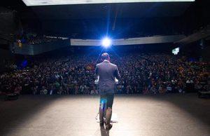 Santiago Abascal en su discurso en el Palacio de Congresos de Sevilla para presentar su candidatura a las elecciones de Andalucía