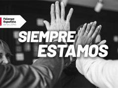 Campaña de Falange Española bajo el nombre siempre estamos