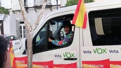 Morante dela Puebla en la campaña de VOX Andalucía