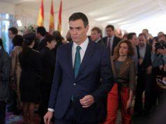 Pedro Sánchez en los actos de la Constitución