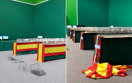 Los separatistas vascos retiran banderas de España