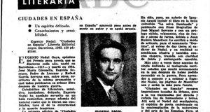 El intelectual falangista, Eugenio Nadal