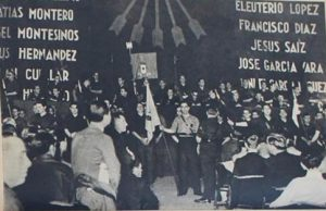 Telón de los Caídos de Falange Española en el Cine Madrid