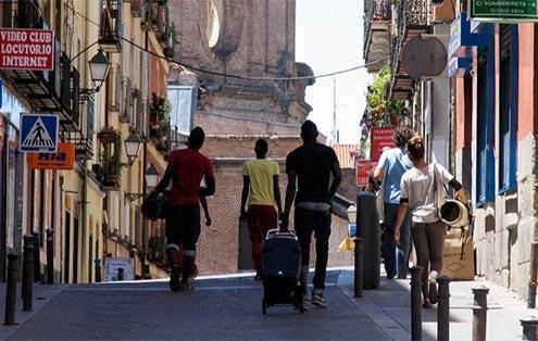 Inmigración en las calles de Madrid