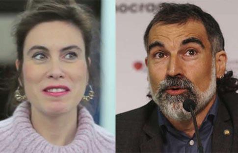 Jordi Cuixart y su pareja