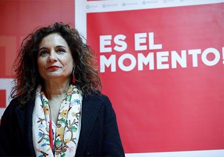 Maria Jesus Montero, Ministra del PSOE