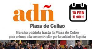 ADÑ manifestación por la Unidad de España