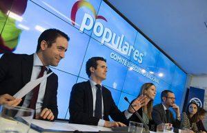 Comite Ejecutivo Nacional del Partido Popular presidido por Pablo Casado