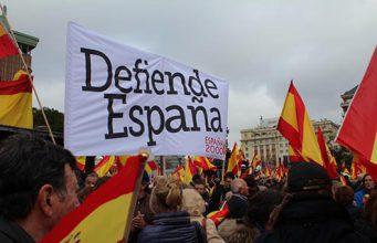 España2000 en la manifestación por la unidad de España en Madrid
