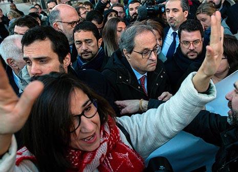 Quim Torra en la manifestación separatista en Madrid ante el Tribunal Supremo