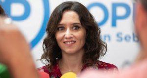 Isabel Ayuso del Partido Popular de la Comunidad de Madrid