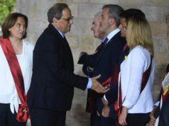 Valls niega saludo a Quim Torra