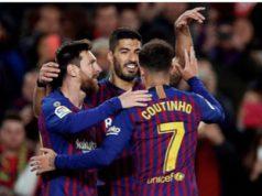 Messi, Luis Suarez y Coutinho