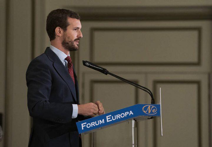 Pablo Casado en Forum Europa