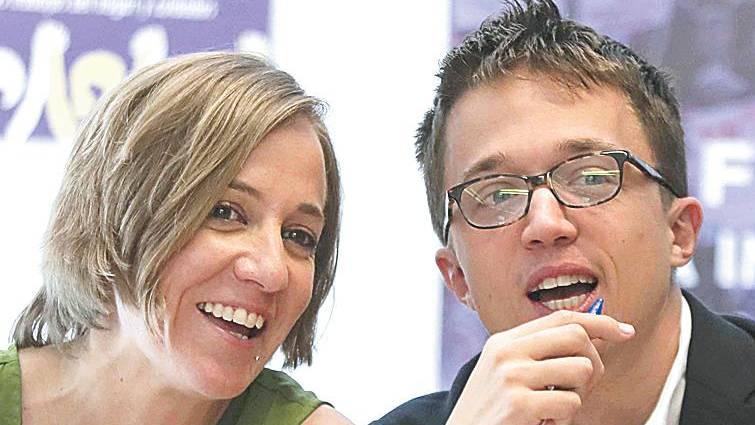 Tania Sánchez e Iñigo Errejón
