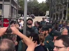 Guardia Civil en el Valle de los Caídos impide entrar en misa