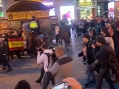 Patriotas defienden España frente a los separatistas en Madrid