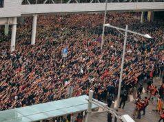 Separatistas en el aeropuerto del Prat