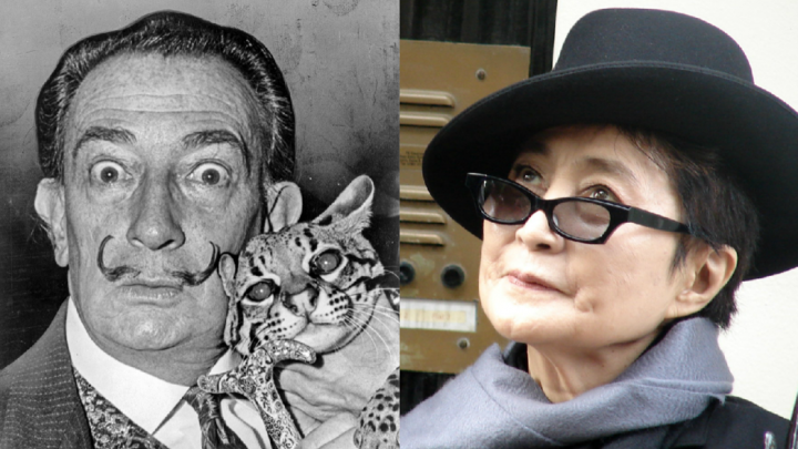 Salvador Dali y Yoko Ono
