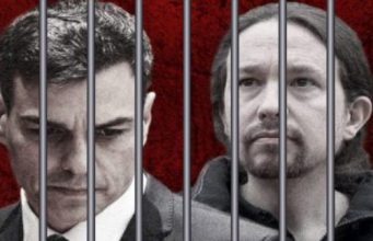 Pedro Sánchez y Pablo Iglesias en prisión