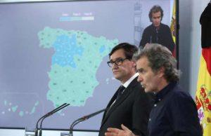 Ministro de Sanidad Illa y Fernando Simón