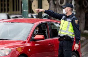 Policía Nacional y la mascarillas